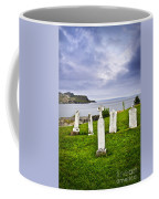 Tombstones Near Atlantic Coast In Newfoundland Coffee Mug by Elena Elisseeva