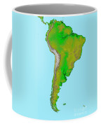 Topographic View Of South America Coffee Mug