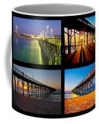 Topsail Piers At Sunrise Coffee Mug