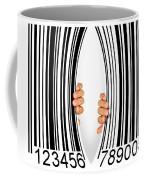 Torn Bar Code Coffee Mug by Carlos Caetano