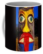 Totem Pole With Tongue Sticking Out Coffee Mug