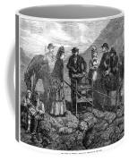 Tourists At Vesuvius, 1872 Coffee Mug