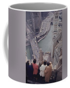 Tourists Looking Down On The Chicago Coffee Mug