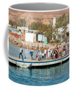 Tourists Waiting To Climb Onto Dive And Snorkeling Boats At Sharm El Sheikh Coffee Mug