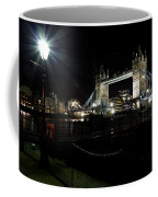 Tower Bridge And Riverside Night View  Coffee Mug