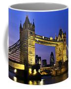 Tower Bridge In London At Night Coffee Mug