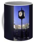 Town Clock Coffee Mug by Sally Weigand