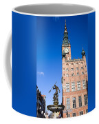 Town Hall And Neptune Fountain In Gdansk Coffee Mug