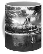 Toy Boating In A Parisian Park Bw Coffee Mug