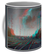 Tracking The Storm - Red-cyan Filtered 3d Glasses Required Coffee Mug