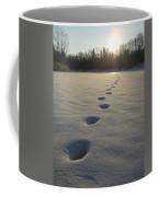 Tracks Into The Sunrise Coffee Mug