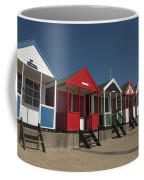 Traditional Beach Huts On The Seafront Coffee Mug