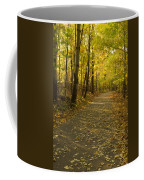 Trail Scene Autumn Abstract 1 Coffee Mug