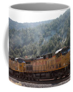 Train In Spanish Fork Canyon Coffee Mug