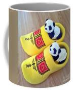 Travelling Pandas Series. Dutch Weekend. Cozy Dutch Clogs. Square Format Coffee Mug