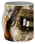Treasure Box With Old Pistol Coffee Mug by Garry Gay