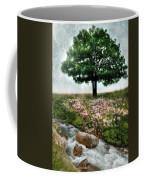 Tree By Stream Coffee Mug