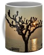 Tree In A Foggy Sunset Coffee Mug