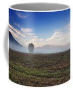 Tree With Fog On The Field Coffee Mug