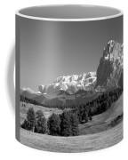 Treeline Across Alpi Di Siusi In The Dolomites Coffee Mug