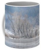 Trees On A Frozen Lake Coffee Mug