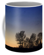 Trees On A Hill In Sunset Coffee Mug