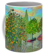 Trees On Rocks In A Lake Coffee Mug