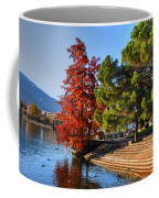 Trees On The Lake Front In Autumn Coffee Mug