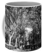Trees On The Mall In Central Park In Black And White Coffee Mug