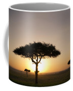 Trees On The Savannah With The Sun Coffee Mug