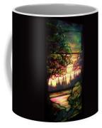 Trees Stained Glass Window Coffee Mug