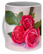 Trio Of Pink Roses Coffee Mug