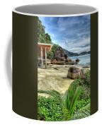 Tropical Beach Coffee Mug by Adrian Evans