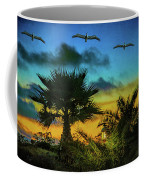 Tropical Sunset With Pelicans Coffee Mug
