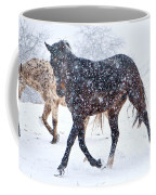 Trotting In The Snow Coffee Mug