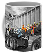 Truck And Dolls With Selective Coloring Coffee Mug