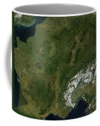 True-color Satellite View Of France Coffee Mug