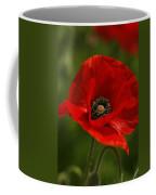 Truly Red Oriental Poppy Wildflower Coffee Mug