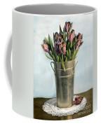 Tulips In Metal Vase Coffee Mug