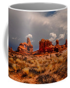 Turret Arch And Storm Clouds Coffee Mug