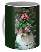 Tuscan Earthenware Pot And Flowers Coffee Mug