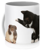 Tuxedo Kitten With Guinea Pig Coffee Mug