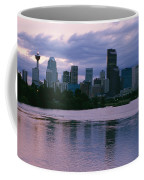 Twilight On The Bow River And Calgary Coffee Mug by Michael S. Lewis