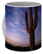 Twilight View Of A Saguaro Cactus Coffee Mug