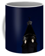 Twilight View Of Clock At Clarksville Historic Courthouse  Coffee Mug