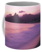 Twilight View Of Ipanema Beach And Two Coffee Mug by Michael Melford