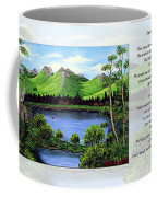Twin Ponds And 23 Psalm On White Coffee Mug