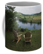 Two Adirondack Chairs On A Scenic Coffee Mug by Randy Olson