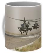Two Ah-64 Apache Helicopters Prepare Coffee Mug
