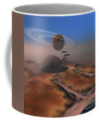 Two Aircraft Fly Over Domes Coffee Mug